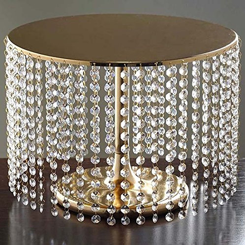 Gold Crystal Chandelier Cake Stand