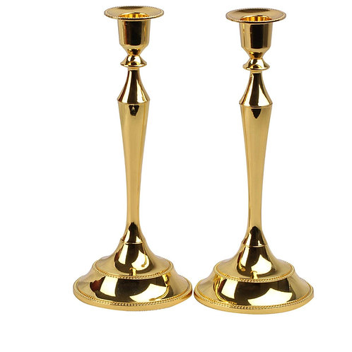 Gold Taper Candle Set (Set of 2)