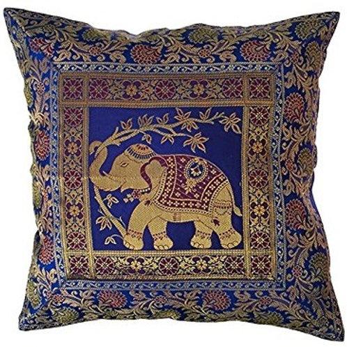 """16"""" Silk Indian Throw Pillow"""