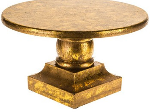 "11"" Gold Wood Cake Stand"