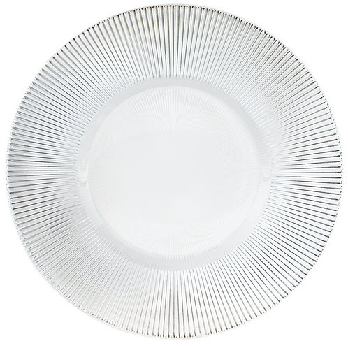 "13"" Clear Sunray Glass Charger"