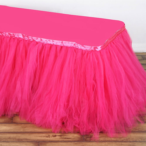 Layered Tulle Table Skirt