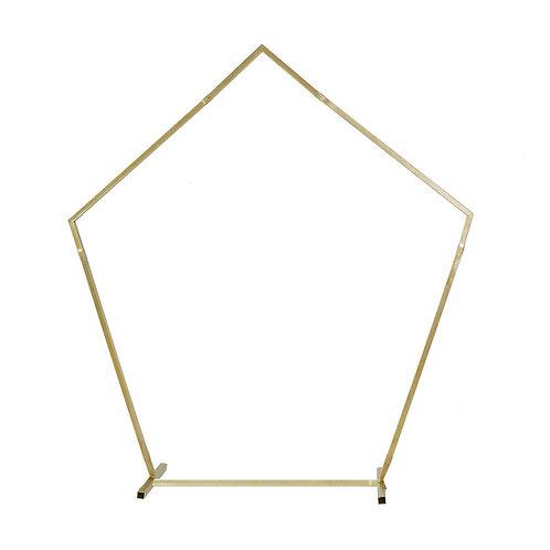 Gold Metal Pentagonal Arch