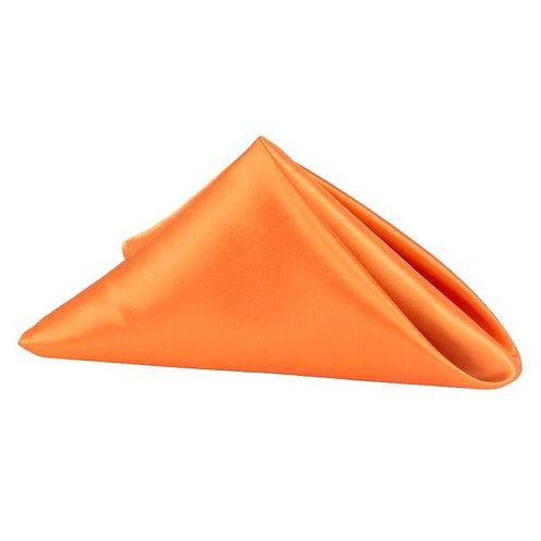 "18"" x 18"" Orange Satin Napkin"