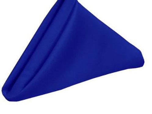 "16"" x 16"" Royal Blue Polyester Napkin"