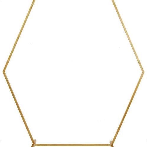 Gold Metal Hexagonal Arch