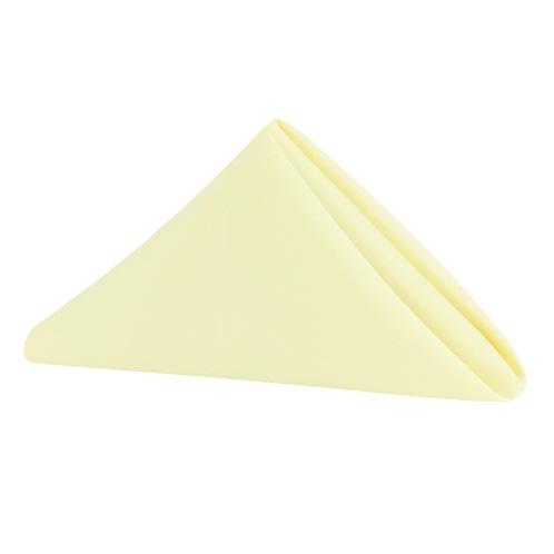"""20"""" x 20"""" Pastel Yellow Polyester Napkin"""