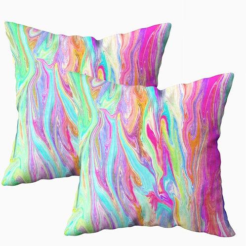 """18"""" Neon Swirl Pillow"""