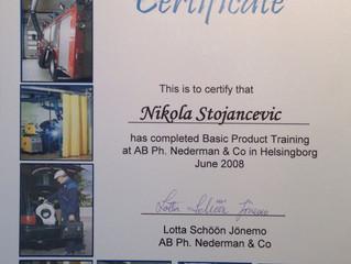 Posedujemo sve sertifikate proizvodjača Nederman, Švedska// We have all the nessecary sertificates f