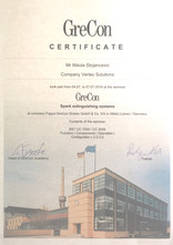 Naš tim je posetio fabriku Grecon u Alfeldu, Nemačka i uspešno završio obuku za sistem za gašenje va