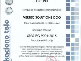 Resertifikacija ISO 9001, 14001, 18001 i 50001 uspešno završena!/Resertification for ISO 9001, 14001