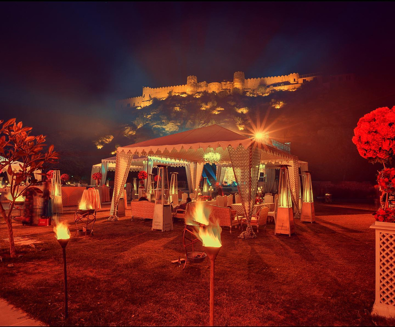 The War Fort makes a majestic backdrop for festivites in Bagh -e- Inayat