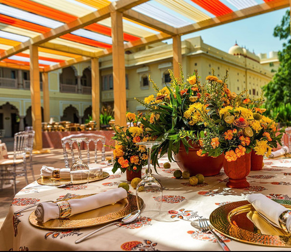 The Poolside is ideal for a daytime haldi or mehendi function.