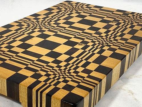 3D Escher Style End Grain Cutting Board - CET3D004
