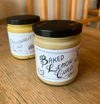 Baked Lemon and Passionfruit Curd Jars