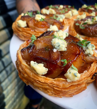 Onion and Blue Cheese Tarts