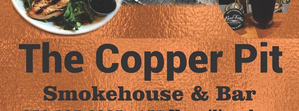 copper pit menu cover
