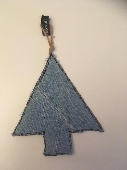Kerstboom van old jeans
