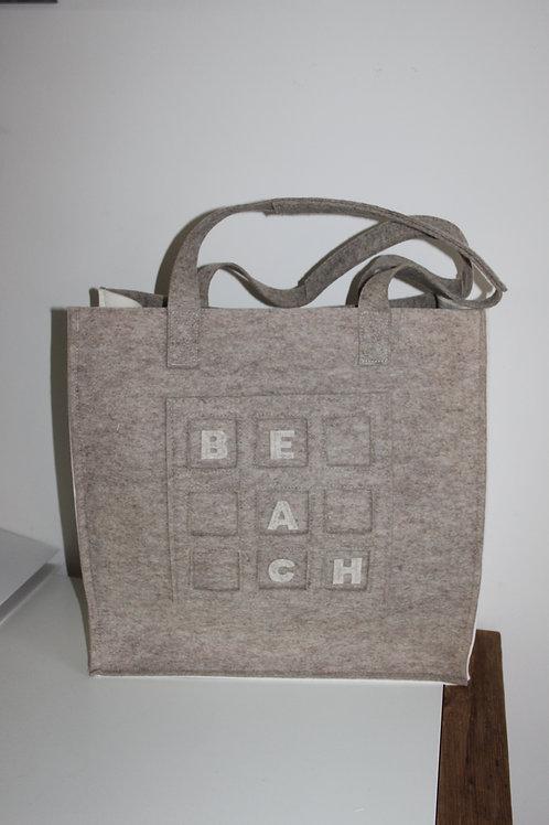 Vilten grote (strand-) tas