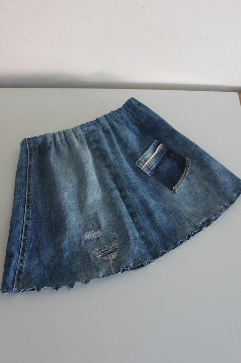 Rokje van old jeans maat 134