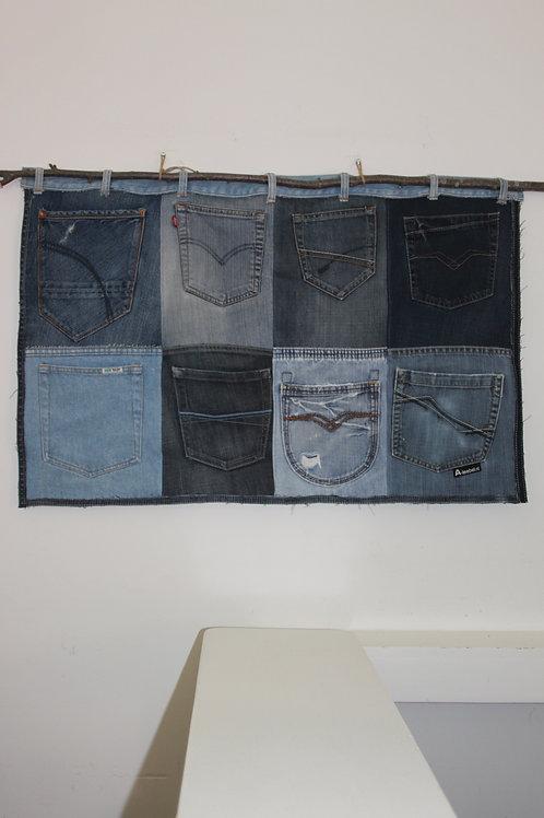 Organiser voor aan de muur van oude jeans