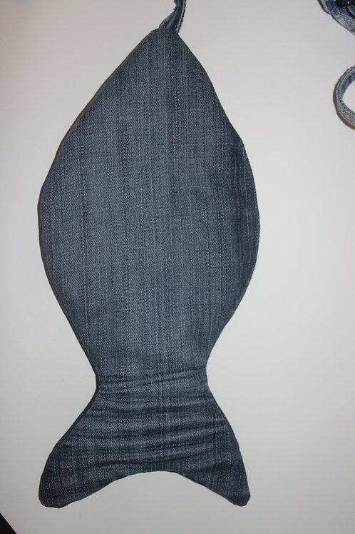 Vis van old jeans