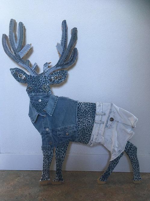 Hert bekleed met old jeans