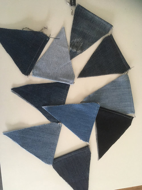Vlaggenlijn van geupcyclede jeans