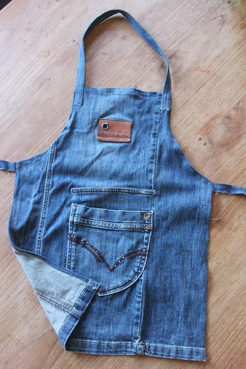 Kinderschort van jeans voor 4-6 jaar