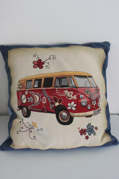 Kussen met VW busje afbeelding
