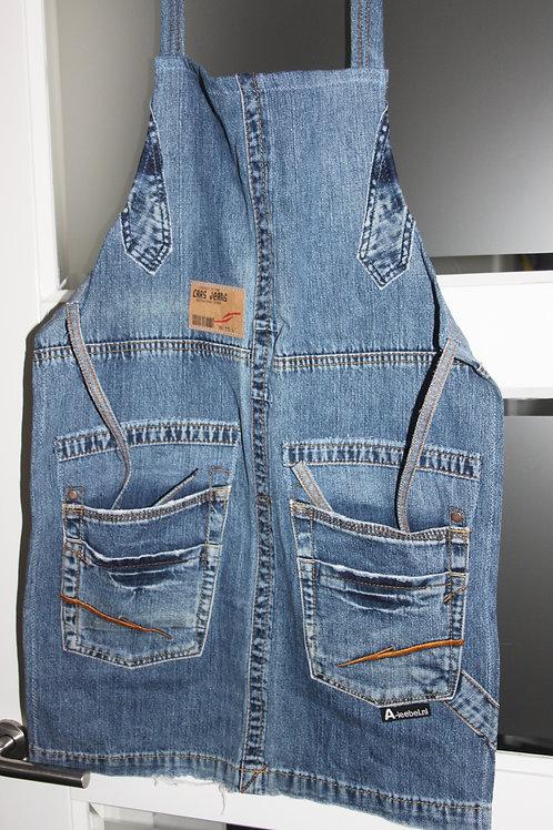 """Kinderschort van old jeans """"CARS"""""""
