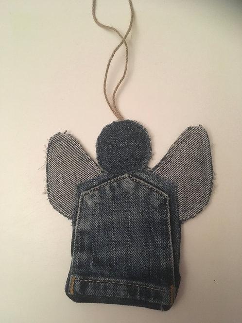 Engel van oude spijkerbroek