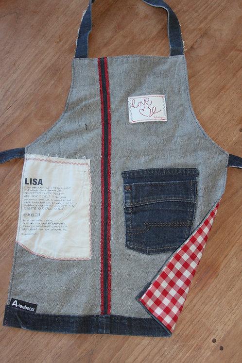 Kinderschort van oude jeans 'LISA'