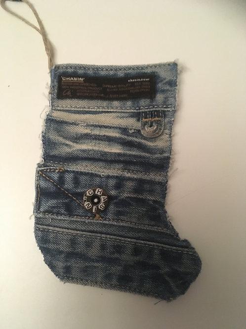 Kerstlaarsje van oude Chasin spijkerbroek