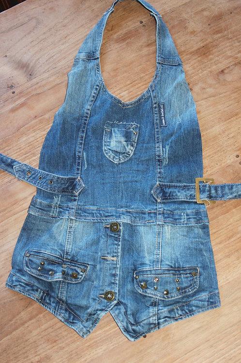 Kinderschort van jeans 'gilet'