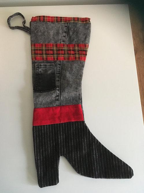 Hippe kerstlaars van old jeans