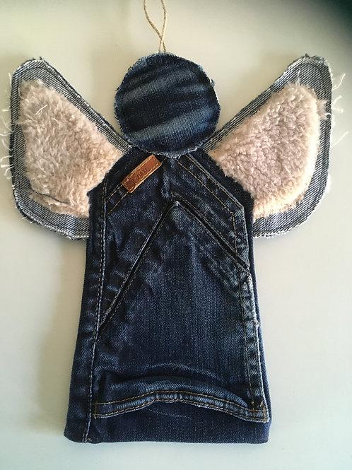 Engel van jeans-zak