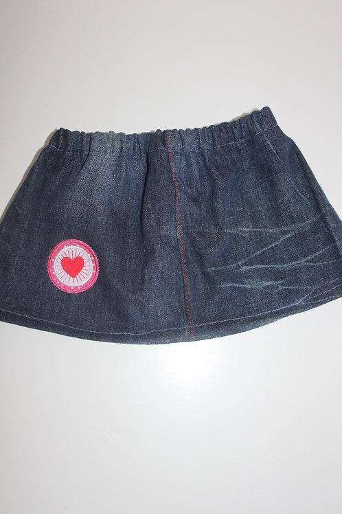 Jeansrokje  (maat 98)  van een 'oude' jeansbroek