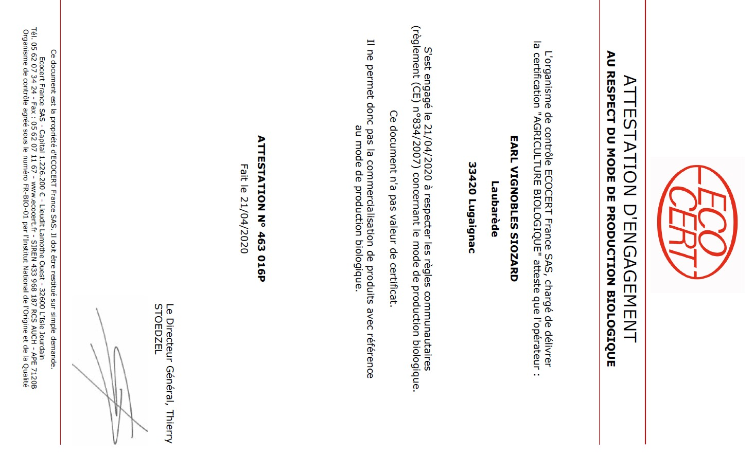 certificat abvs