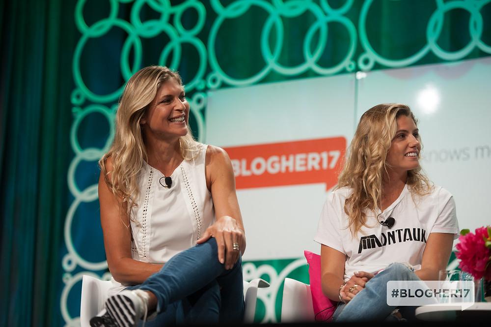 Gabrielle Reece & Quincy Davis at #BlogHer17