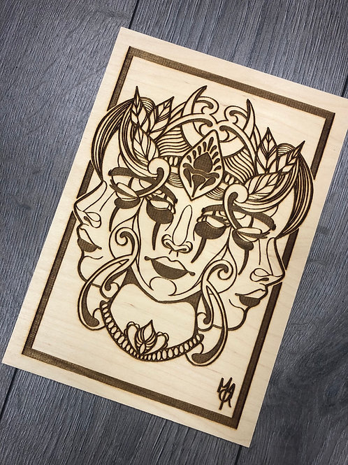 Full set of NeoTraditional lady faces