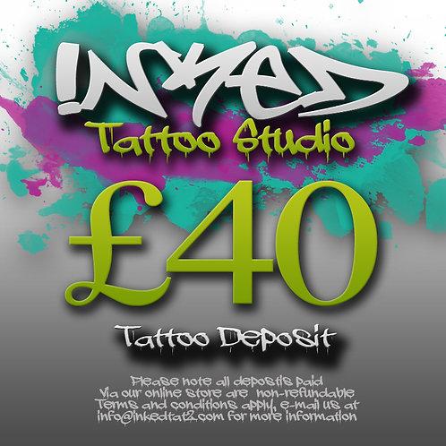 Tattoo Deposit £40