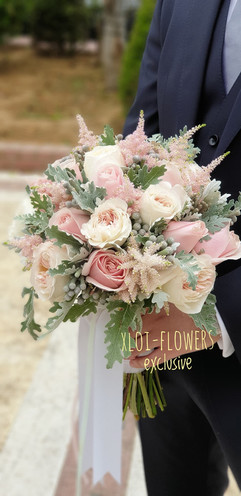 Elegance light pink bouquet
