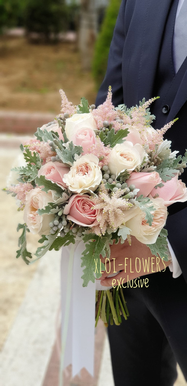 Elegance light pink bouquet