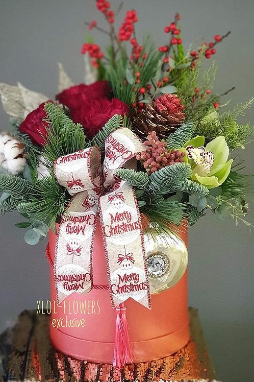"""Christmas Hatbox"" σύνθεση"