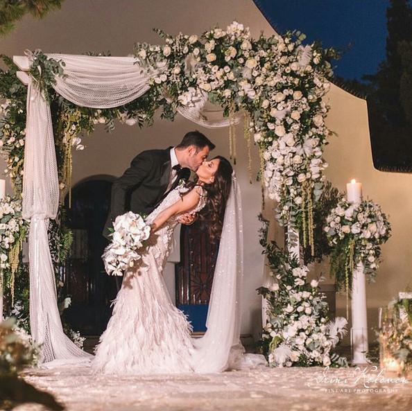 Ρομαντικός καλοκαιρινός γάμος στην Αθήνα.