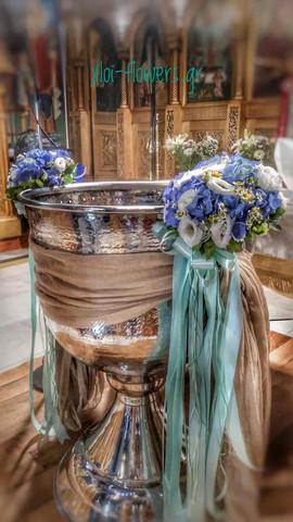Πανέμορφα μπουκέτα με μπλε ορτανσίες και
