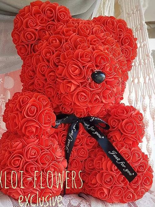 Το διάσημο αρκουδάκι από υφασμ. τριαντάφυλλα