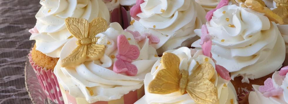 cup cakes πεταλουδα