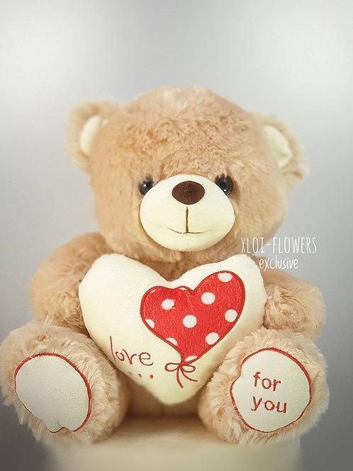 """Αρκουδάκι """"LOVE FOR U"""""""